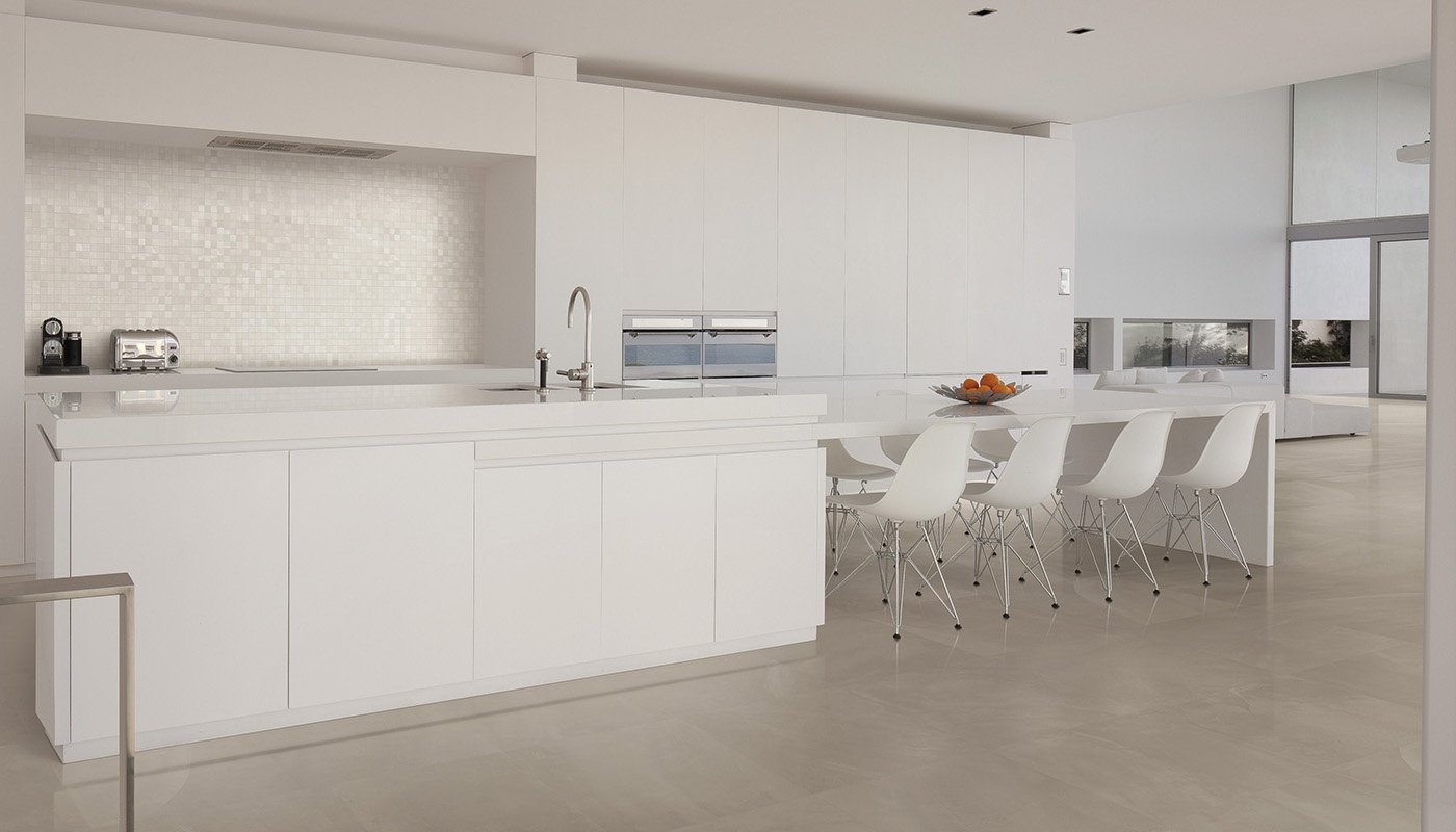 Architect Resin cucina beige cemento 2614