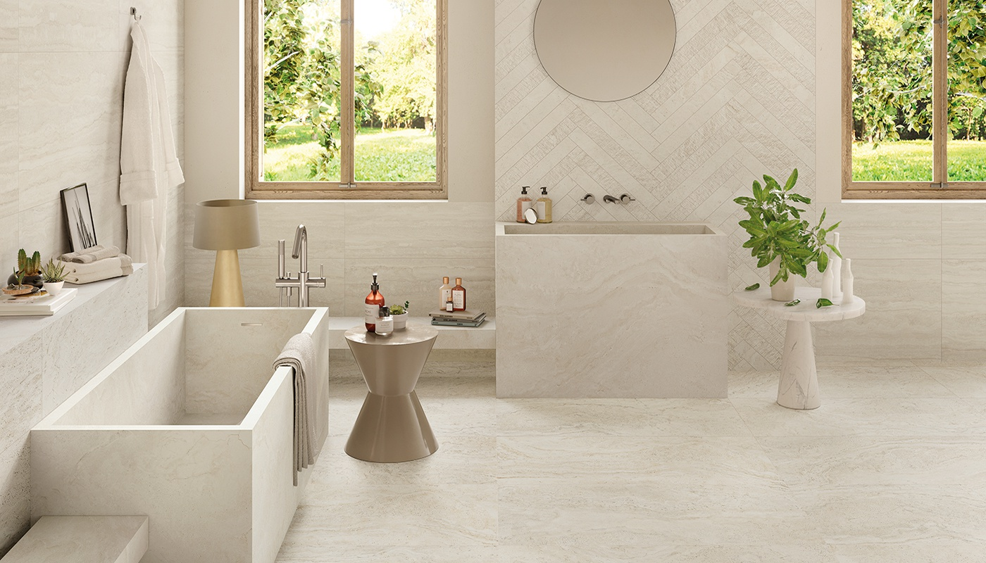 Unique Travertine bagni beige  3345